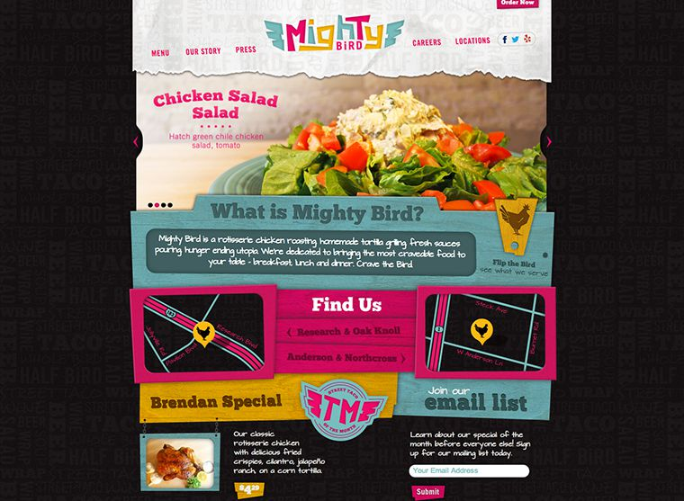 portfolio item Mighty Bird Website