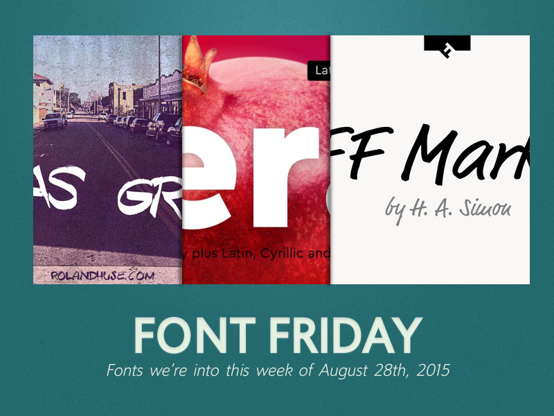 portfolio item Font Friday: 8/28/15