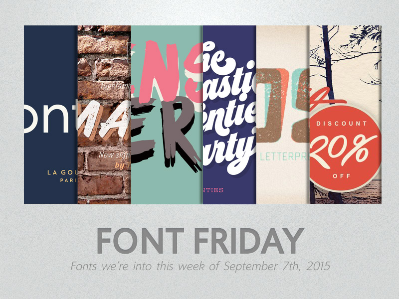 portfolio item Font Friday: 9/7/2015
