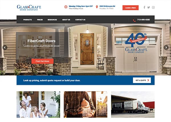 GlassCraft Door Company Website