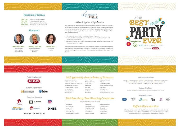 Leadership Austin Event Program/Invite