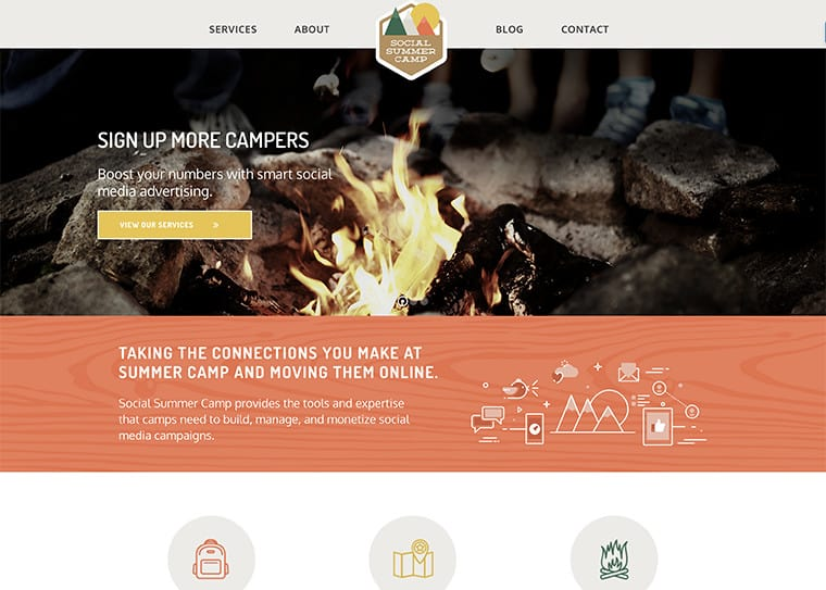 Social Summer Camp Website