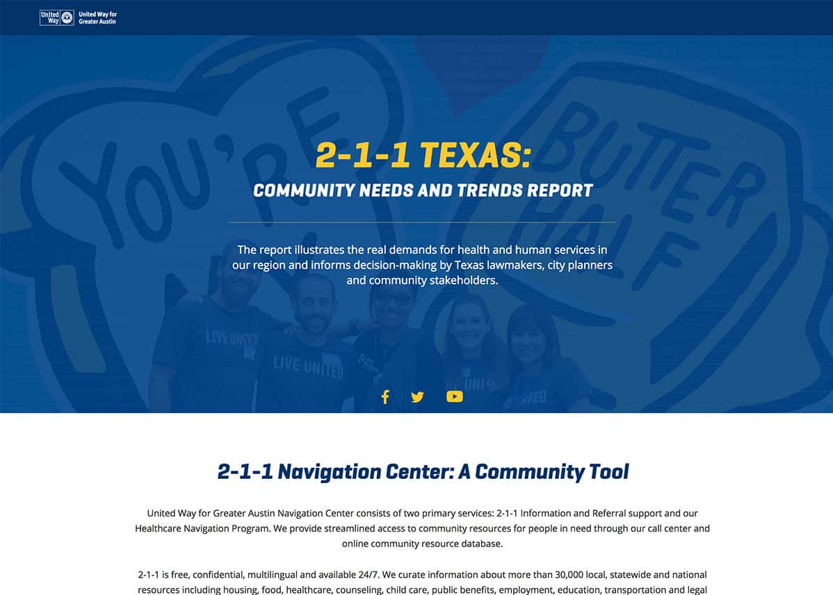 United Way Austin 211 Report