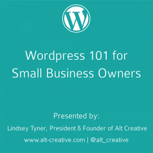 Wordpress 101 for Small Business Owners (PDF)