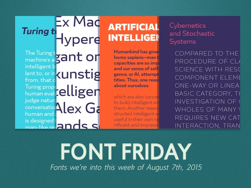 Font Friday: 8/7/15